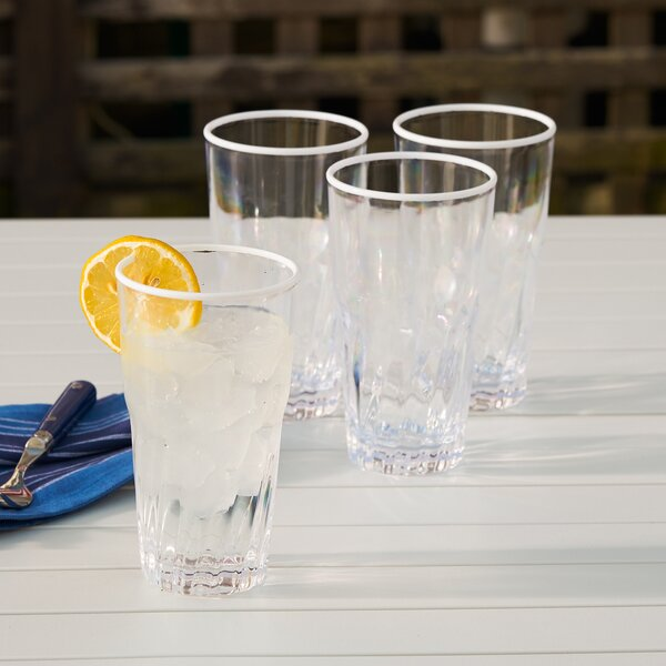 Lincolnville 19 oz. Acrylic Everyday Glasses (Set of 6) by Beachcrest Home