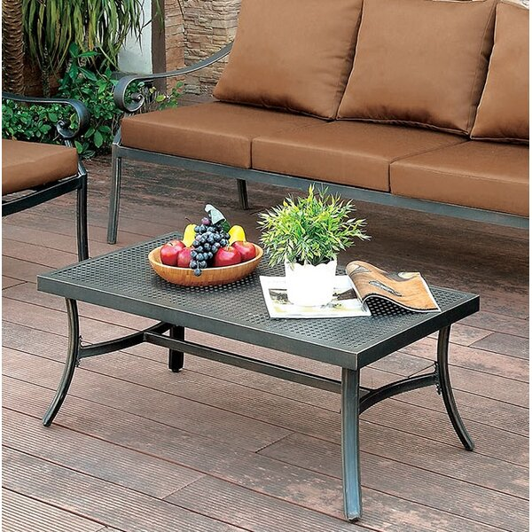 Clemence Patio Aluminum Coffee Table by Fleur De Lis Living