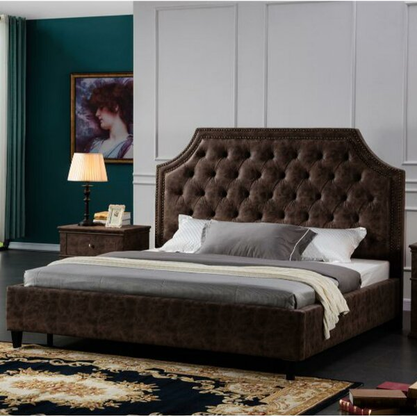 Saffo Leatherette King Upholstered Platform Bed by Canora Grey