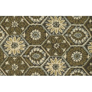 Mayfield Hand-Hooked Brown/Green Area Rug