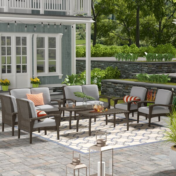 Hagler 8 Piece Deep Seating Group With Cushions By Sol 72 Outdoor