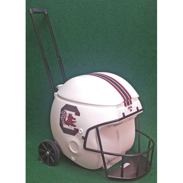 40 Qt. South Carolina White Football Helmet Rolling Cooler by Coolr Coolrz