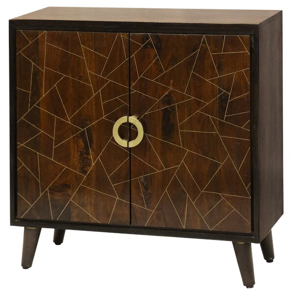 Destin Geometric Pattern 2 Door Accent Cabinet by Bloomsbury Market Bloomsbury Market