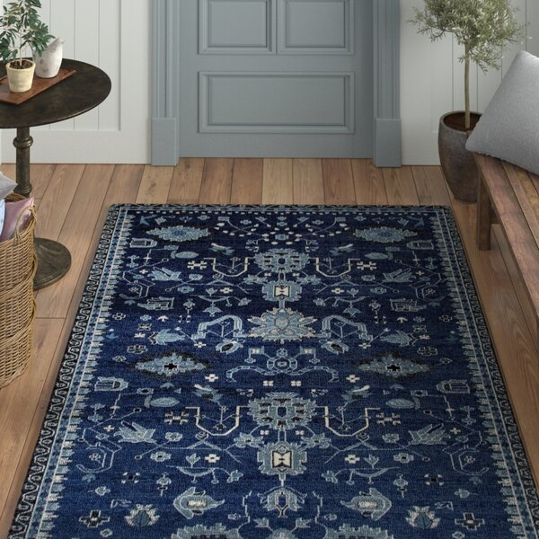 Sabanc Machine Woven Navy Area Rug by Laurel Foundry Modern Farmhouse