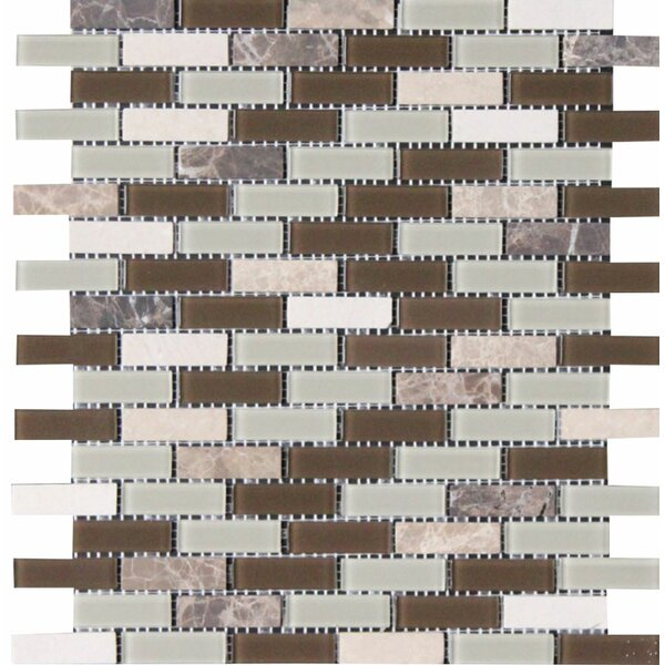 Modesto 0.625 x 2 in Glass Mosaic Tile by Parvatile