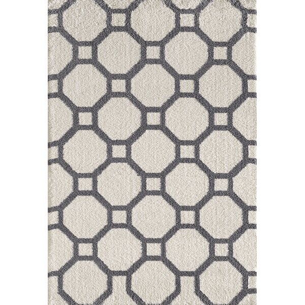 Lowes White/Gray Area Rug by Winston Porter