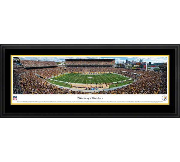 NFL Pittsburgh Steelers 50 Yard Line Framed Photographic Print by Blakeway Worldwide Panoramas, Inc