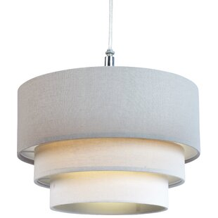 Ceiling lamp shades wayfair 28cm polycotton drum pendant shade aloadofball Images