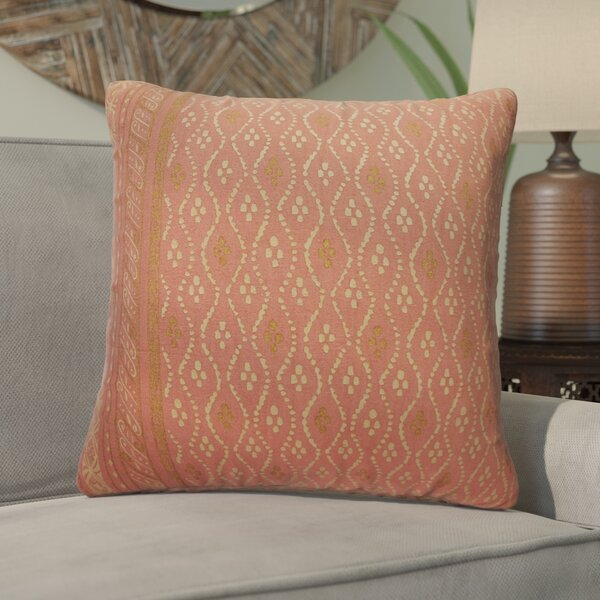 Melvin Cotton Throw Pillow by Bungalow Rose