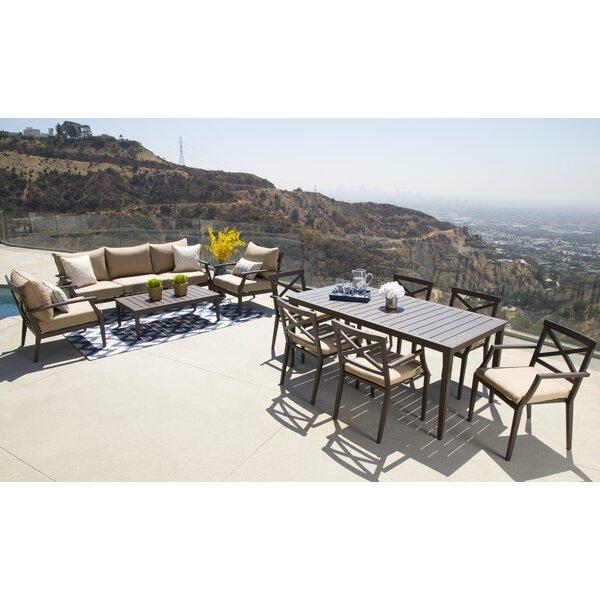 Brooklet 11 Piece Sunbrella Dining Set with Cushions by Fleur De Lis Living