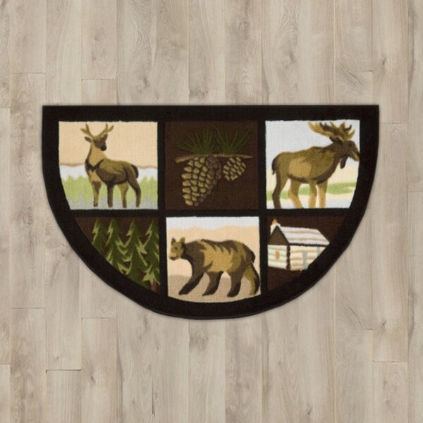Steens Brown Lodge Area Rug by Loon Peak
