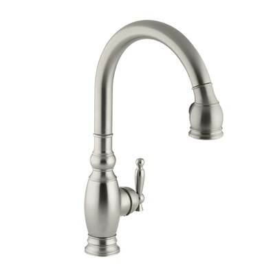 Kitchen Faucet Single Handle Brushed Nickel 494 Product Photo