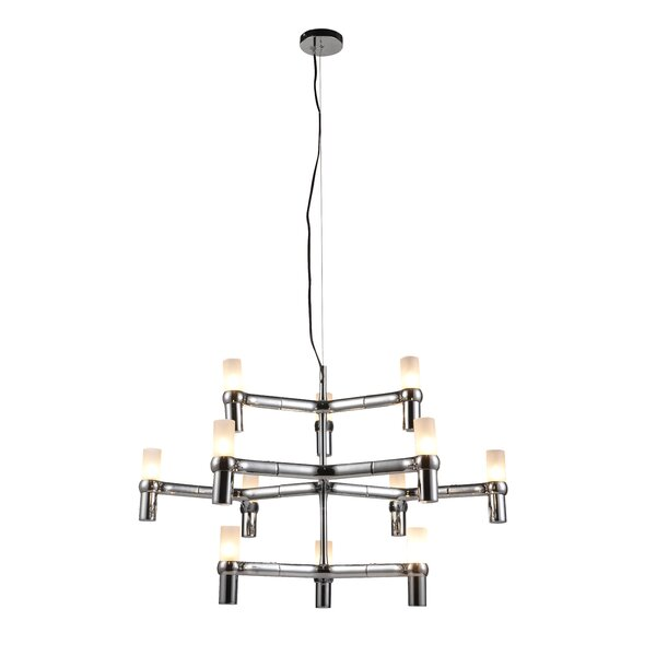 Ashburn 12 - Light Shaded Tiered Chandelier by Ivy Bronx Ivy Bronx