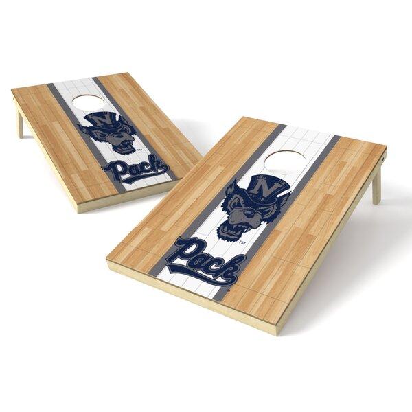 NCAA Nevada Wolf Pack Hardwood Cornhole Board (Set of 2) by Tailgate Toss