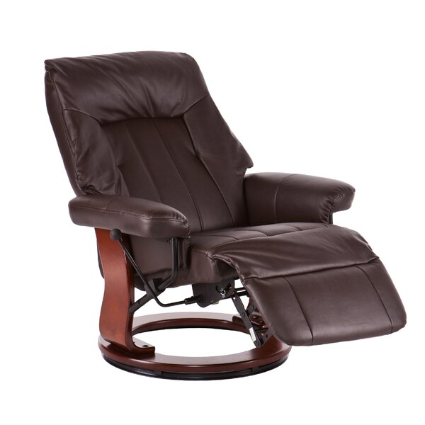 Newton Manual Swivel Recliner With Ottoman by Wild