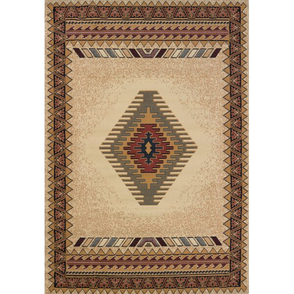 Hyacinthe Tucson Cream Area Rug by Loon Peak