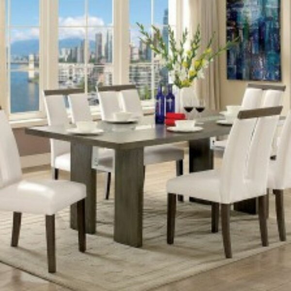 Marcano 7 Piece Solid Wood Dining Set by Orren Ellis