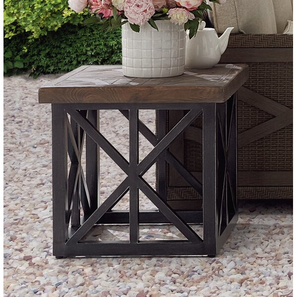 Astrid Outdoor End Table by Gracie Oaks