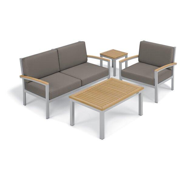 Farmington 4 Piece Sofa Set with Cushions by Latitude Run