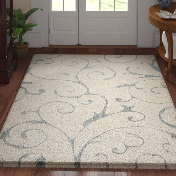 Remick Power Loom Gray/Light Blue Indoor Area Rug by Three Posts