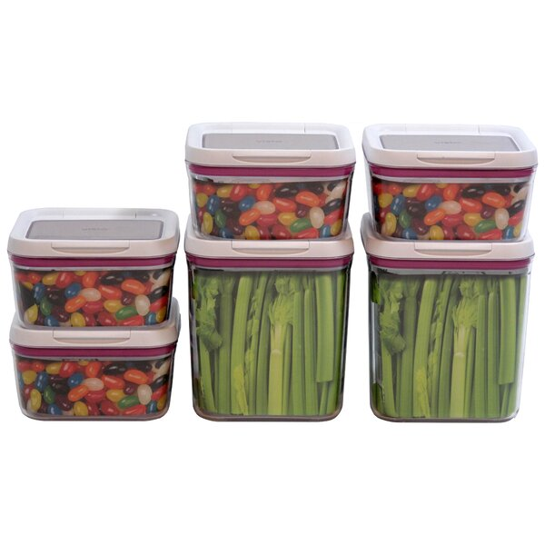 Kendricks 6 Piece Food Storage Container Set by Symple Stuff