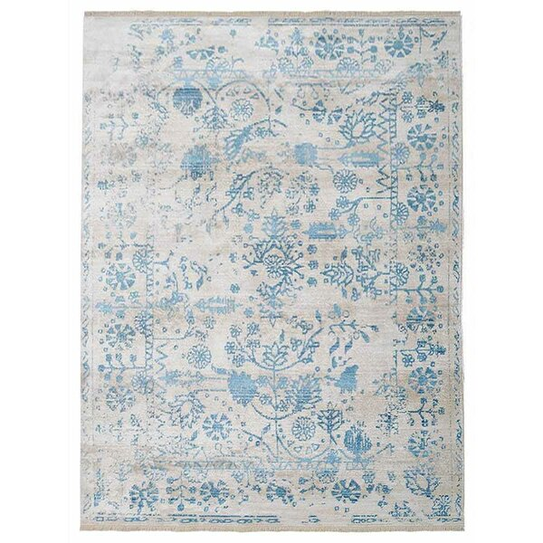 Chauncy Crossweave Blue/Gray Area Rug by Ophelia & Co.