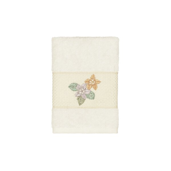 Virgil Embellished Turkish Cotton Washcloth by Charlton Home