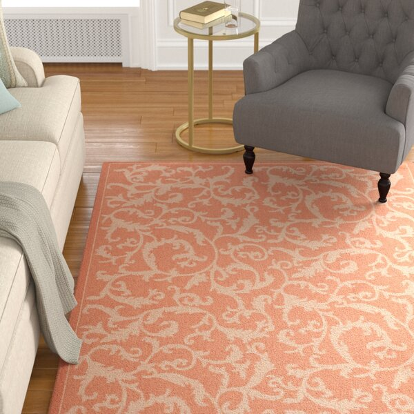 Octavius All Over Ivy Terracota Indoor/Outdoor Area Rug by Charlton Home