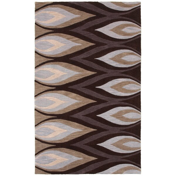 Hand-Tufted Brown/Ivory Area Rug by The Conestoga Trading Co.