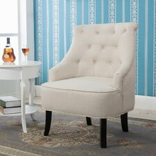 Terrell Curved Back White Accent Side Chair by Alcott Hill