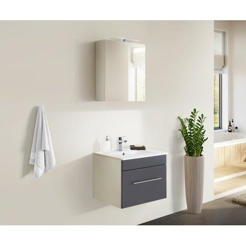 Viva 2-Piece Bathroom Furniture Set Belfry Bathroom Furniture Finish: Anthracite/White