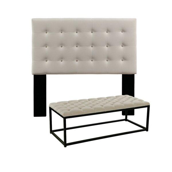 Ivette Upholstered Panel Headboard by Charlton Home