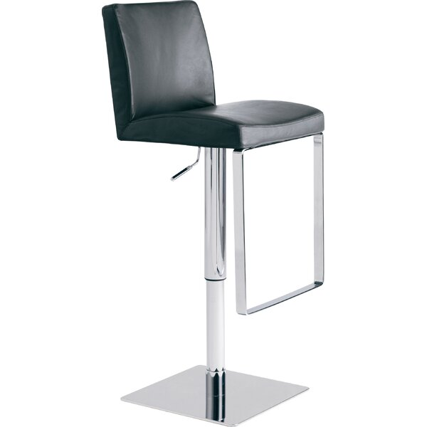 Matteo Adjustable Height Swivel Bar Stool by Nuevo