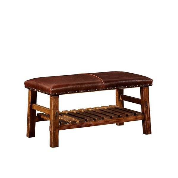 Everett Leather Bench by Furniture Classics