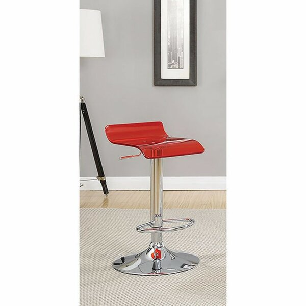Hesiod Adjustable Height Swivel Bar Stool (Set of 2) by Brayden Studio