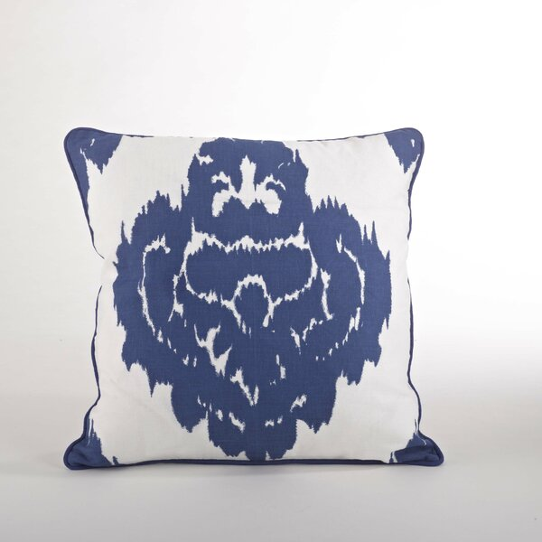 Odessa Damask Design Down Filled Throw Pillow by Saro