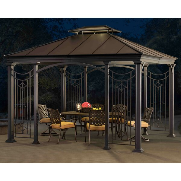 12 Ft. W x 10.5 Ft. D Metal Patio Gazebo by Sunjoy