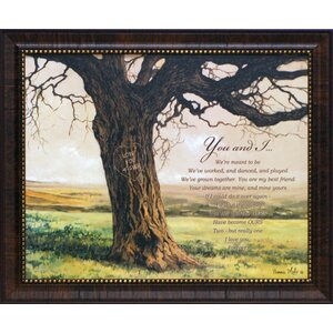 Forever You and I by Bonnie Mohr Framed Graphic Art by Artistic Reflections