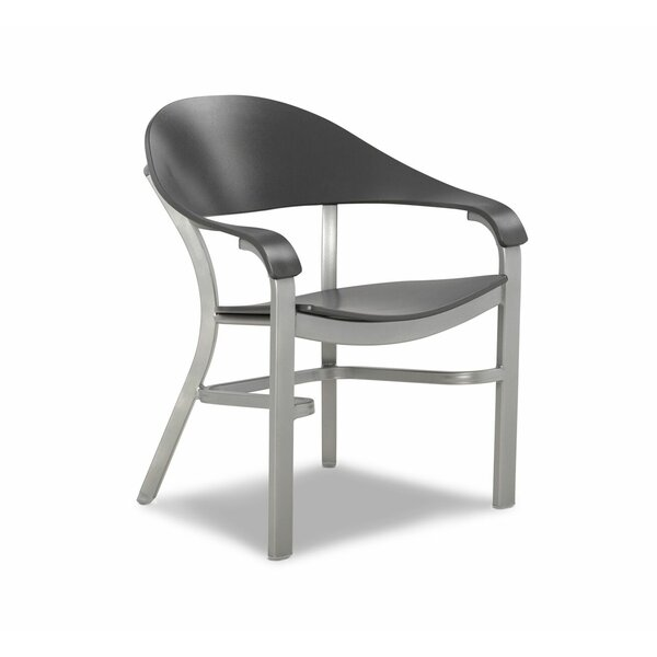 Jetset Marine Grade Polymer/Aluminum Height Patio Dining Chair by Telescope Casual