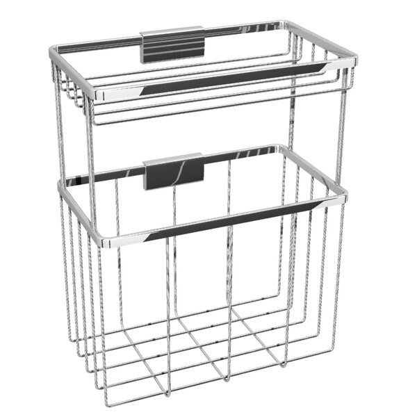 Metal Wall Mounted Shower Caddy by Rebrilliant