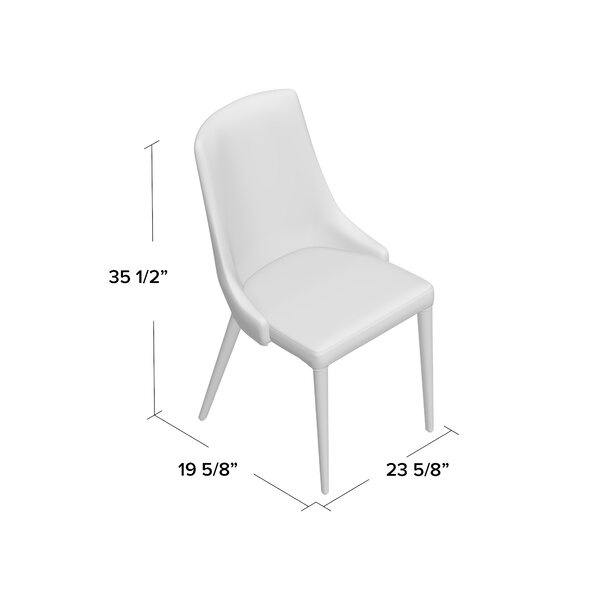 Sherwood Leather Upholstered Dining Chair (Set of 2) by Langley Street