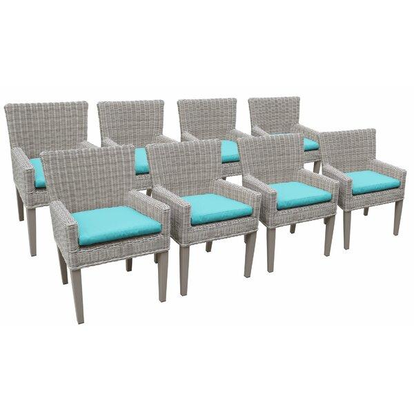 Felisha Patio Dining Chair with Cushion (Set of 8) by Breakwater Bay Breakwater Bay