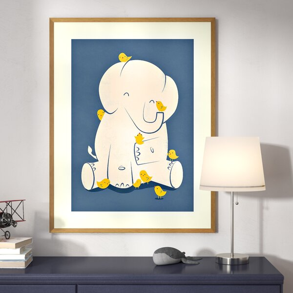 Wingate Big Mama (Elephant) Framed Art by Harriet Bee
