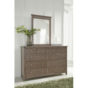 Roberta 10 Drawer Double Dresser with Mirror by Canora Grey
