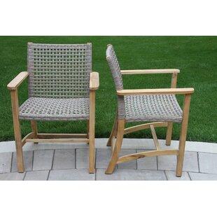 Marva Teak Patio Dining Chair (Set Of 2)