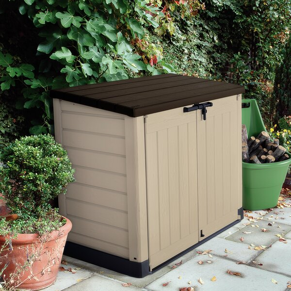 Store-It-Out Max 5 ft. W x 3 ft. D Plastic Horizontal Garbage Shed by Keter