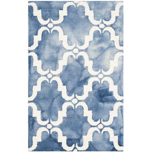 Medfield Hand-Tufted Blue/Ivory Area Rug by Bungalow Rose
