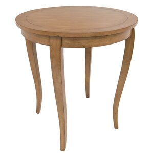 Hubbell Round Classic Wood Pub Table by Alcott Hill