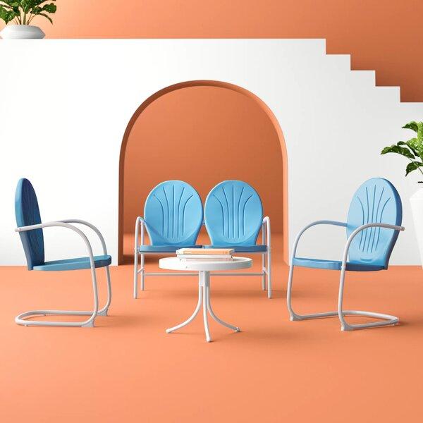 Karim 4 Piece Sofa Seating Group by Wrought Studio