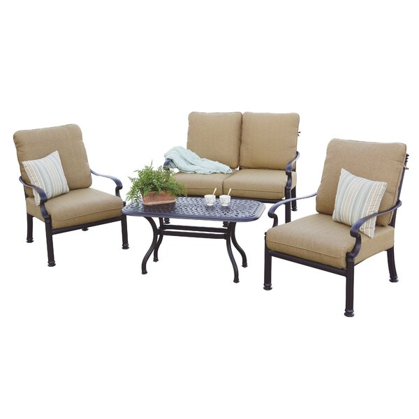 Palazzo Sasso 4 Piece Sofa Set with Cushions by Astoria Grand